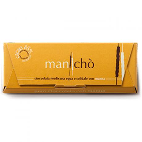 Cioccolata BIO MANCHO' con manna 85%