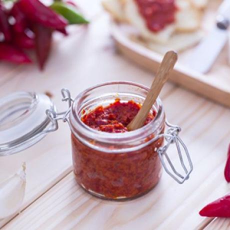 Patè di Peperoncino Rosso in olio e.v.o. 190 gr
