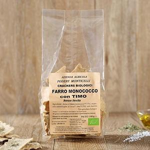 Crackers di grano monococco e timo